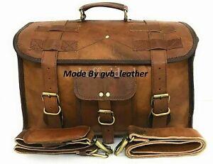 "Retro 24"" Dashing Leather Duffel Weekend Overnight Travel Bag Holdall Luggage"