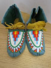 STUNNING FULL BEAD MOCCASINS, 9.5 INCHES, SUNRISE, AUTHENTIC NATIVE AMERICAN
