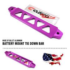 Battery Tie Down FIT FOR Honda Civic EG Billet Aluminum 5 Holes 195mm Purple