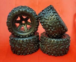 1/10 BRUSHLESS E-REVO 2.0 VXL (4) TIRES (17mm WHEELS tyres Talon EXT Traxxas