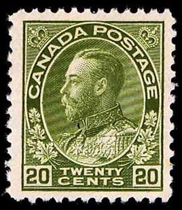 CANADA #119 .20c ADMIRAL OF THE NAVY ISSUE OF 1925 - OGLH - VF - $100 (E#9664)