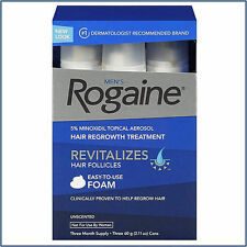 Rogaine For Man Hair Regrowth Treatment  Unscented- 3 Month Supply New EXP12/18
