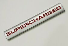 SUPERCHARGED REAR BOOT BADGE RED RANGE ROVER SPORT VOGUE AUTOBIOGRAPHY 4.2 5.0