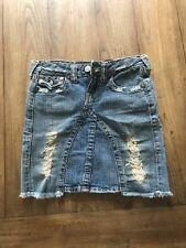 True Religion Young Women's Distressed Joey Denim Skirt Size 24