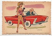 PICHARD. Carte pin up. En cas de vraie panne...Humour Service. Années 50/60.