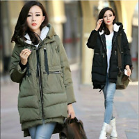 Winter Orolay Style Womens Thicken Padded Coat Hooded Jacket Parka Outwear Tops