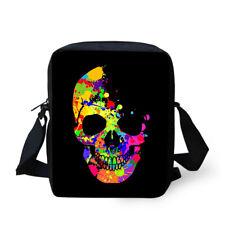 Cool Skull Crossbody Messenger Bag Women Men Shoulder Purse Handbag Satchel Tote