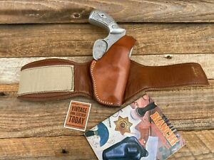 Vintage Bianchi  Leather Ankle Holster for Small J Chief 36 or Similar Revolver