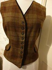 "Scapa Of Scotland brown tartan Dress Waistcoat size medium chest 36"""