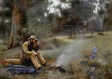 Australian Landscape Painting Frederick Mccubbin Down On His Luck Canvas Print