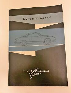 1959 VW volkswagen Karmann Ghia English owners manual ORIGINAL GREAT CONDITION!