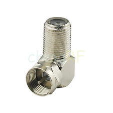 F adapter F Plug to Jack female Right Angle RF Coax Adapter Connector zinc alloy