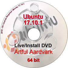 Ubuntu Linux DVD 17.10.1  Artful Aardvark Live/Install DVD 64 bit