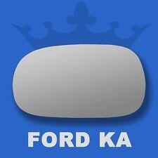 Ford KA wing door mirror glass 1996-2008 Left Passenger side Spherical