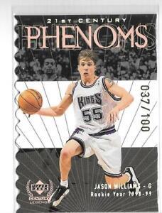 JASON WILLIAMS 1999/2000 CENTURY LEGENDS PHENOMS DIE CUT #37/100 -KINGS!!!