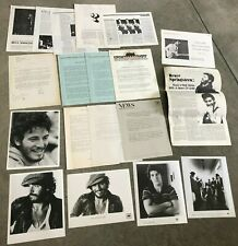 Bruce Springsteen 1970s press kit promo materials assorted photos and releases