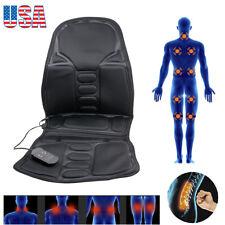 12V  Back Massage Chair Heat Seat Cushion Neck Pain Lumbar Support Pads Car