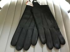 M&S Mens Black Soft Genuine Leather Gloves Medium Bnwt RRP £25 Thermowarmth.