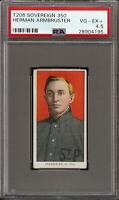 Rare 1909-11 T206 Herman Armbruster Sovereign 350 St Paul PSA 4.5 VG - EX +