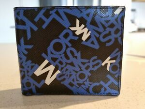 Michael Kors Leather Wallet Black And White