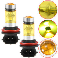 2PCS New 4300K Yellow 100W LED H11 H8 Projector Fog Driving Light Bulbs 1900LM