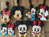 12 Styles New Hot Disney Mickey And Minnie Mouse PVC Travel Baggage Luggage Tags