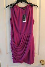 Sami + Dani Juniors Studded Club Dress Purple Size 11 12 NWT