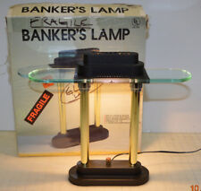 BANKER'S LAMP MID CENTURY DESK LAMP - Glass Diffuser - Dimmable G-2156