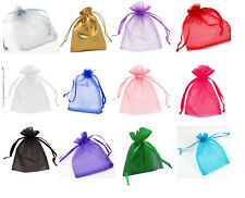 Organza Bags Jewellery Storage, Wedding Favours and more in lots of shades x 10