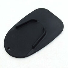 Black Motorcycle Kickstand Side Stand Plate Pad Base For Kawasaki Harley Protect