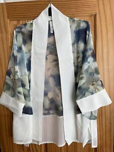 MARLAWYNNE Ladies  Open Front Kimono Sleeve Tunic Top Size XL BNWT