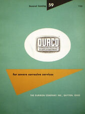 DURCO Duriron Drain Pipe Fittings Catalog ASBESTOS Packing 1959