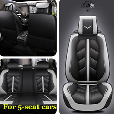 Deluxe Car Seat Cover PU Leather Universal Front&Rear Seat Cushion Protector