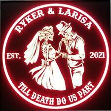 Custom Skeleton Couple, wedding led sign, Anniversary, personalized