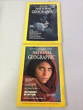National Geographic Afghan girl and Koko's Kitten 1985 Vol. 167 Magazines