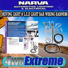 NARVA LIGHT BAR WIRING LOOM HARNESS & DRIVING LIGHT KIT LAMPS 12V VOLT 74401