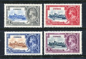 Cyprus 136-139, MH, King George V Silver Jubilee, 1935 x31490