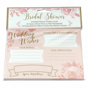 Wedding Wishes Cards Bridal Shower Guest Book Advice Newlyweds Couple Bride