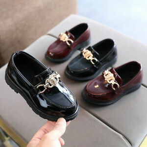 Girls Boys Loafers Kids Formal Dress Comfort  School Party Wedding Casual Shoes