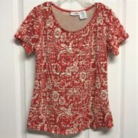 East 5th Stretch Floral Blouse Size M