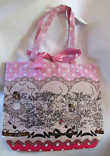 Sweet Lolita Pink Brown Kawaii Tote Bag Book Bag Bodyline Purse NEW NWT