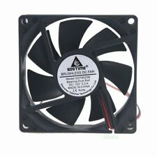 1pcs Big Airflow DC 12V 2Pin Ball 8cm 80mm 80x80x25mm Brushless Cooling Fan