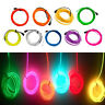 LED Flexible Neon Light Glow EL Wire String Strip Rope Car Dance Party Decor
