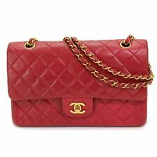 CHANEL Matelasse 25 Chain Shoulder Bag Leather Red A01112 Purse 90082397
