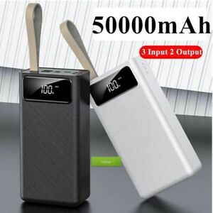 50000mAh Power Bank Fast Charge Type C Charger 2 USB for iphone Samsung Huawei