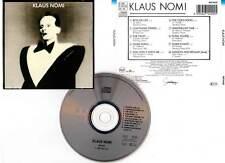 """KLAUS NOMI """"Klaus Nomi"""" (CD) 1985"""
