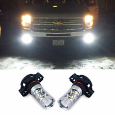 2x H16 5202 50W LED XENON White Fog Light Lamps DRL Bulbs 6000K Projector 2400lm