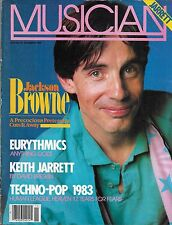 11/83 issue of MUSICIAN magazine  JACKSON BROWNE cover  Eurythmics