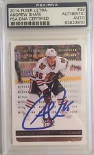 2014-15 Fleer Ultra Gold Medallion Autographed Andrew Shaw PSA/DNA Authenticated