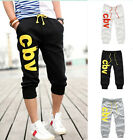 2016 Casual Gym Trousers Sport Shorts Pants New Jogging Cotton Men's